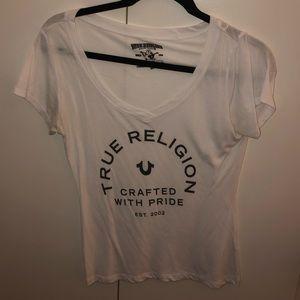 White true religion t-shirt